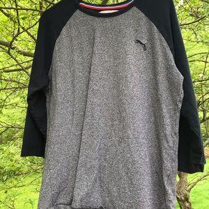 Puma Grey/Black T Shirt Large